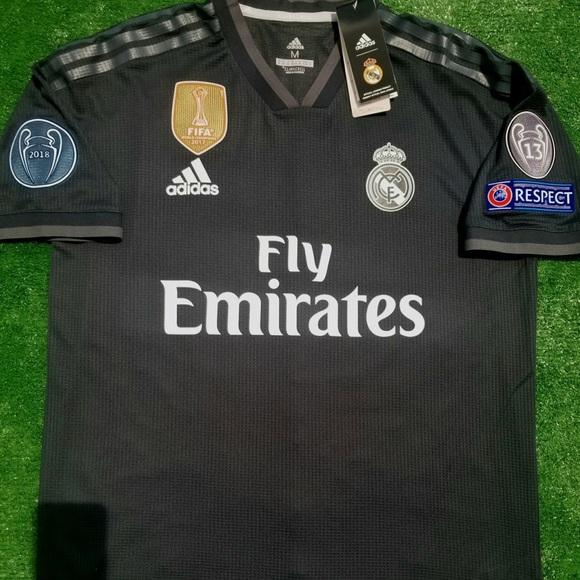 223146d7c 2018 19 Real Madrid Away Soccer Jersey Modric